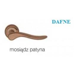 Klamka DAFNE szyld okrągły mosiądz patyna