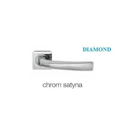 Klamka DIAMOND KWADRAT szyld kwadratowy chrom satyna