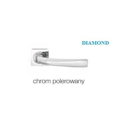 Klamka DIAMOND KWADRAT szyld kwadratowy chrom polerowany