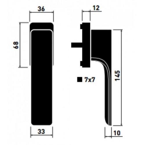 Klamka okienna MINIMAL M&T
