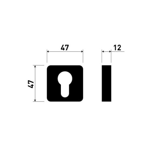 Rozeta na wkładkę Minimal/Maximal CR-K czarna M&T