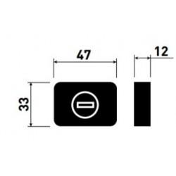 Rozeta WC Minimal double CR-K czarna M&T