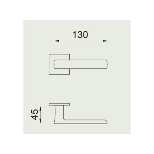 Klamka FOLD 02 kwadrat ZNE czarny matowy DND