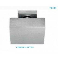 Gałka stała FENIX szyld kwadratowy chrom satyna