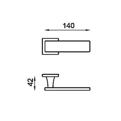 Klamka ARETE/L 02 AB mosiądz antyczny DND