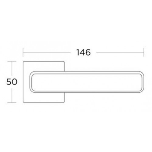 Klamka 2145 chrom/czarny matowy CONVEX