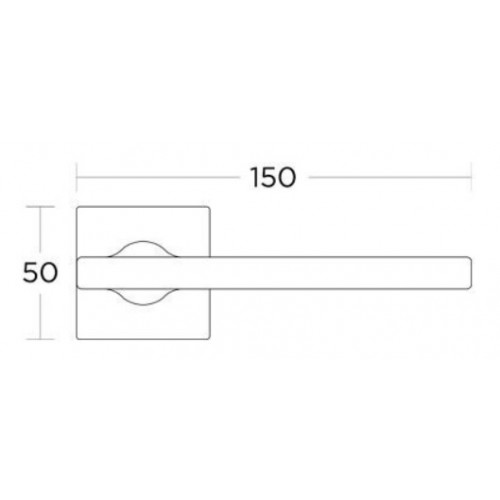 Klamka 2165 chrom satyna CONVEX