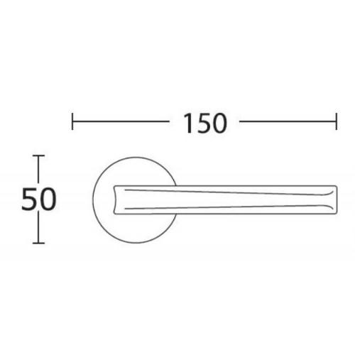 Klamka 2205 chrom satyna CONVEX