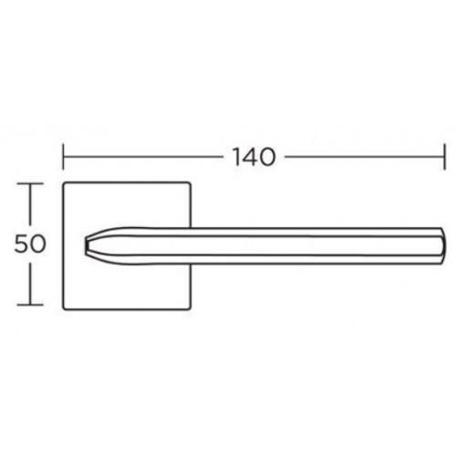 Klamka 1085 mosiądz antyczny CONVEX