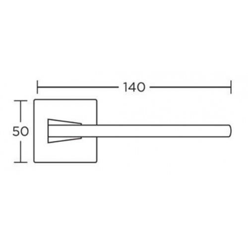 Klamka 1105 nikiel satyna CONVEX