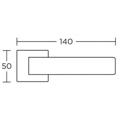 Klamka 1115 chrom satyna CONVEX