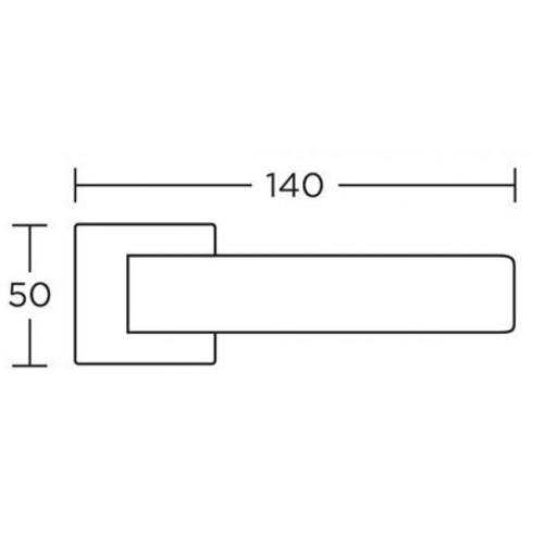 Klamka 1115 nikiel satyna CONVEX