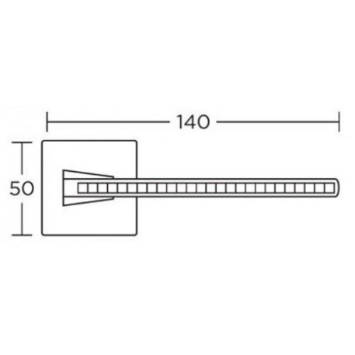 Klamka 1125 chrom satyna CONVEX