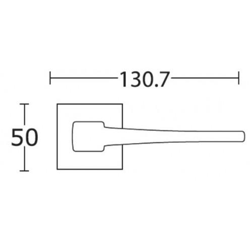 Klamka 1495 nikiel satyna CONVEX