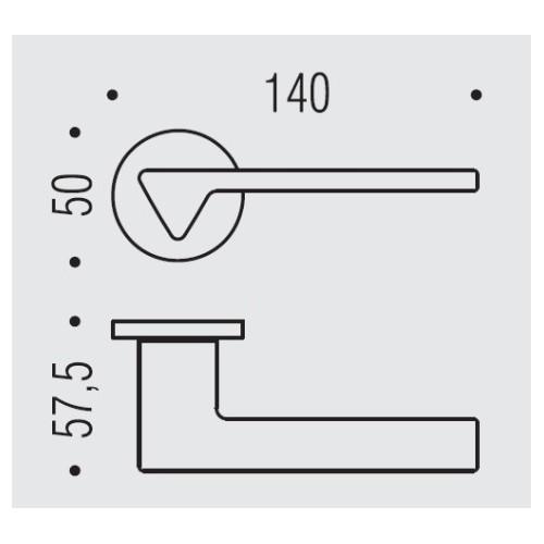 Klamka AMA GM - grafit matowy Colombo