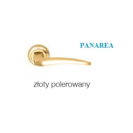 Klamka PANAREA szyld okrągły złoty polerowany
