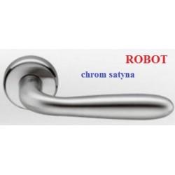 Klamka ROBOT szyld okrągły chrom satyna