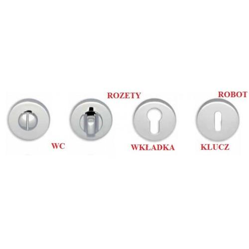 Klamka ROBOT szyld okrągły biały