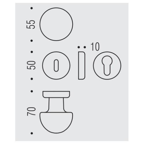 Gałka ROBOT na rozecie 50mm CD45 Colombo