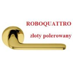 Klamka ROBOQUATTRO szyld okrągły złoty polerowany