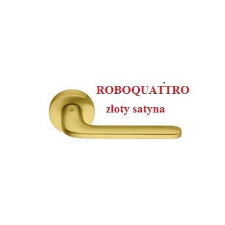 Klamka ROBOQUATTRO szyld okrągły złoty satyna