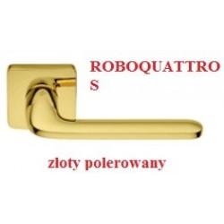 Klamka ROBOQUATTRO S szyld kwadratowy złoty polerowany