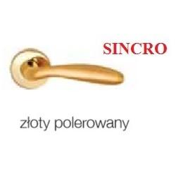 Klamka SINCRO szyld okrągły złoty polerowany