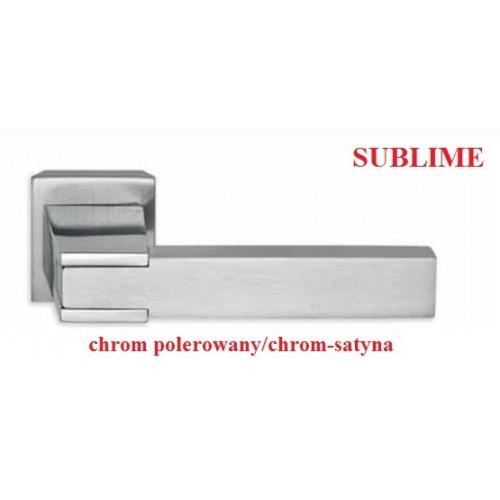 Klamka SUBLIME chrom polerowany-chrom satyna