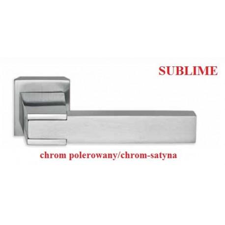 Klamka SUBLIME szyld kwadratowy chrom polerowany-chrom satyna