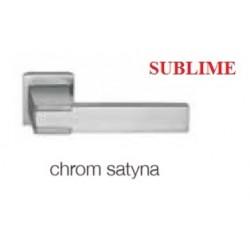 Klamka SUBLIME szyld kwadratowy chrom satyna