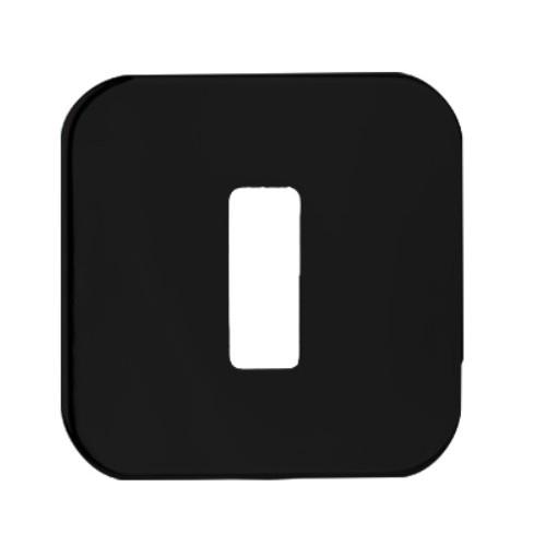 Rozeta T-002-127.P61 czarny głęboki mat na klucz NOMET