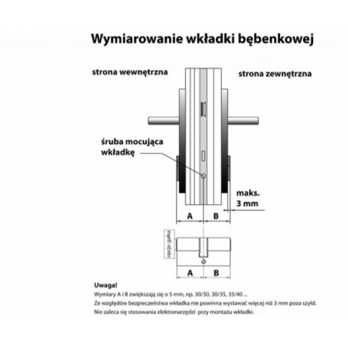 Wkładka patentowa WK E1 nikiel GERDA