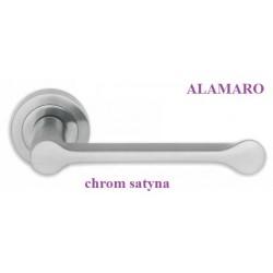 Klamka ALAMARO Manital szyld okrągły chrom satyna