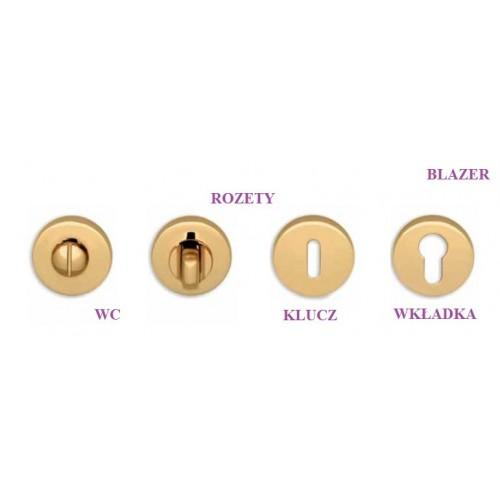Klamka BLAZER Colombo szyld okrągły złoty polerowany