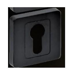 Rozeta kwadrat czarna na wkładkę VDS