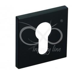 Rozeta RFQ B02 FIT wkładka czarna kwadrat