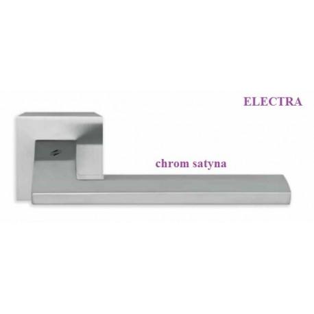 Klamka ELECTRA Colombo szyld kwadratowy chrom satyna