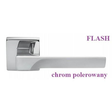 Klamka FLASH Manital szyld kwadratowy chrom polerowany