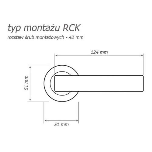 Klamka Torino chrom satyna rozeta okrągła KTR O 100