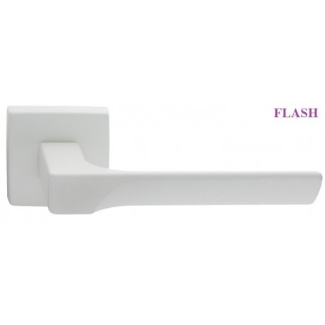 Klamka FLASH Manital szyld kwadratowy biały