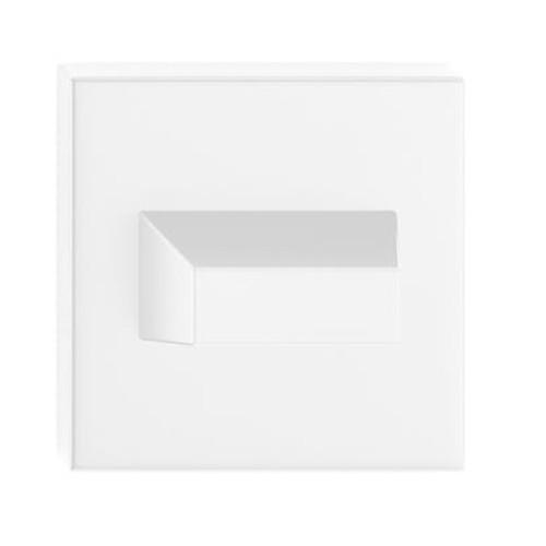 Blokada WC kwadrat biała