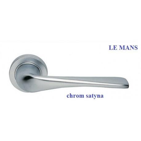 Klamka LE MANS Manital szyld okrągły chrom satyna