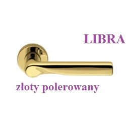 Klamka LIBRA Colombo szyld okrągły złoty polerowany