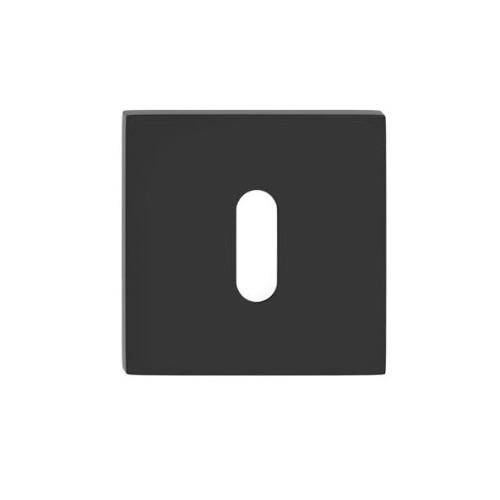 Rozeta kwadrat SLIM na klucz czarna