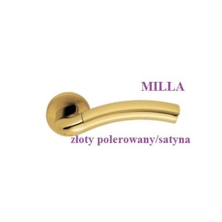 Klamka MILLA Colombo szyld okrągły złoty polerowany-złoty satyna