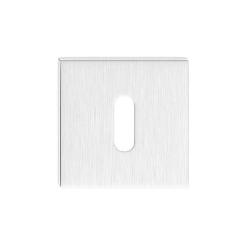 Rozeta kwadrat SLIM na klucz chrom szczotkowany