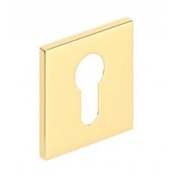 Rozeta kwadrat SLIM na wkładkę złoty