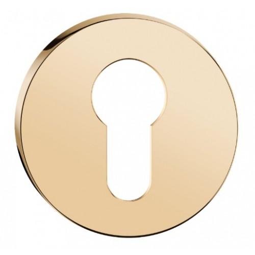 Rozeta okrągła SLIM na wkładkę złoty