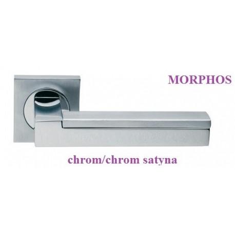 Klamka MORPHOS Manital szyld kwadratowy chrom polerowany-chrom satyna