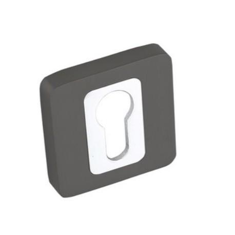 Rozeta kwadrat LK4 502A grafit-chrom wkładka KUCHINOX